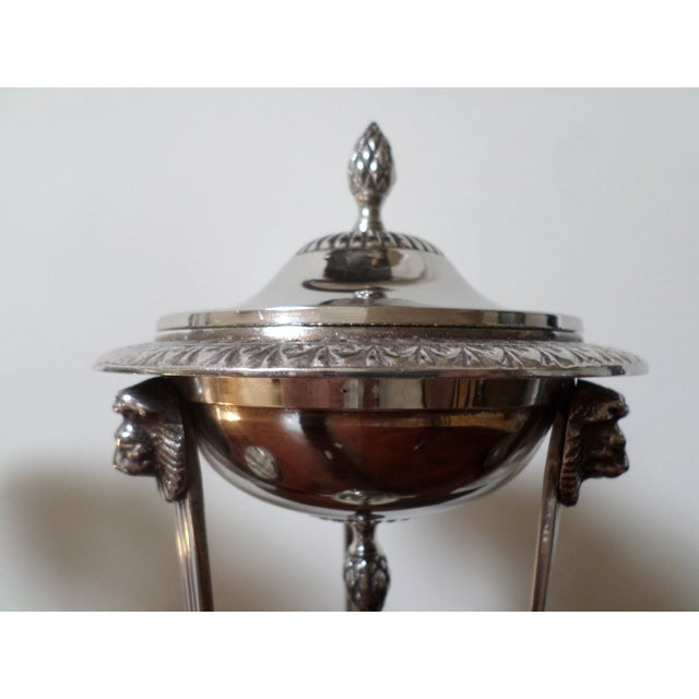 Bombay Company Regency Style Silver-Plate Sweetmeat Dishes - a Pair For Sale - Image 11 of 13