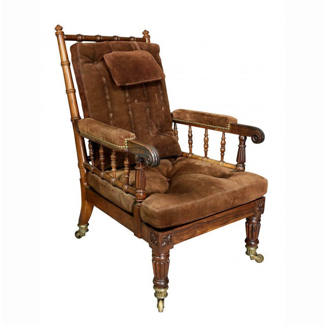 George IV Rosewood Bergere Chair by Gillows For Sale - Image 12 of 12