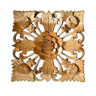 Natural Flower Wall Square, Large For Sale