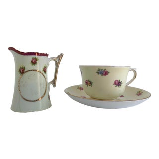 Colclough Creamer, Tea Cup and Saucer Set For Sale