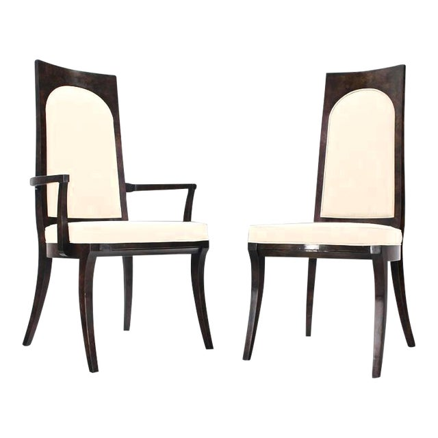 Mid-Century Modern Mastercraft Dining Chairs New Upholstery - Set of 6 For Sale