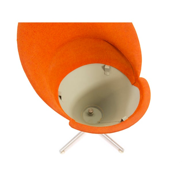 Orange 1950s Contemporary First Series Verner Panton Cone Chair For Sale - Image 8 of 11