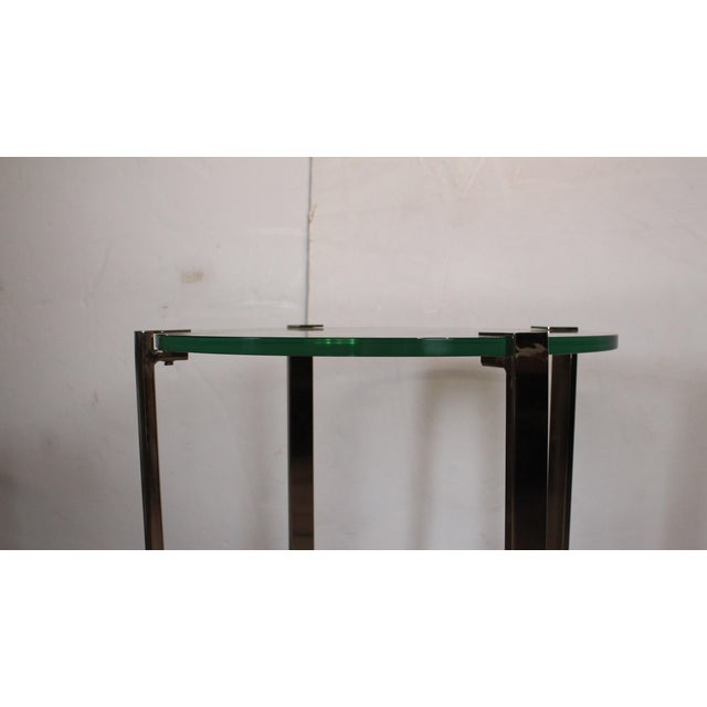 Contemporary 20th Century Contemporary Chrome Accent Table For Sale - Image 3 of 4
