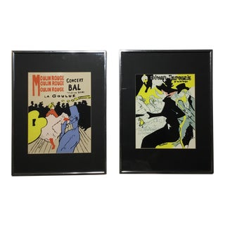Framed Toulouse Lautrec Original Prints - A Pair For Sale