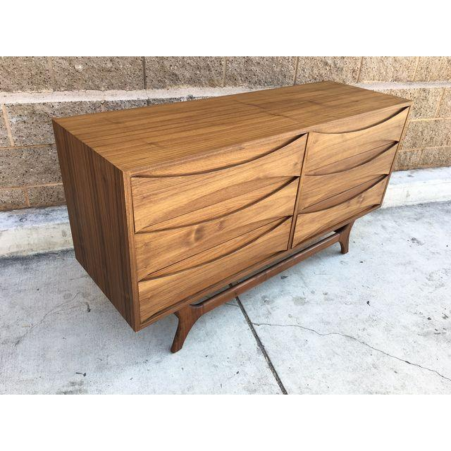 Mid-Century Custom Walnut Dresser - Image 3 of 5