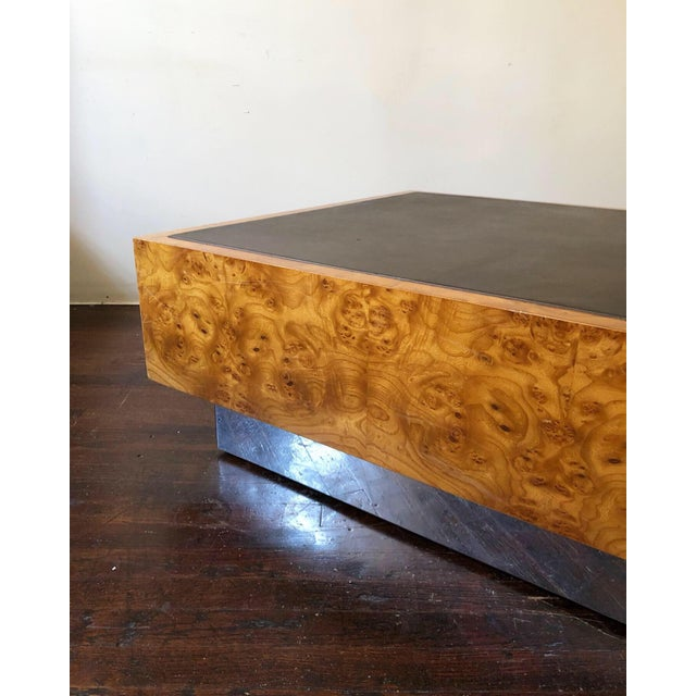 Milo Baughman 1970s Mid Century Modern Milo Baughman Floating Cube Coffee Table For Sale - Image 4 of 5