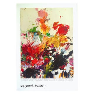 Cy Twombly Rare Abstract Expressionist Lithograph Print Moderna Museet Exhibition Poster For Sale