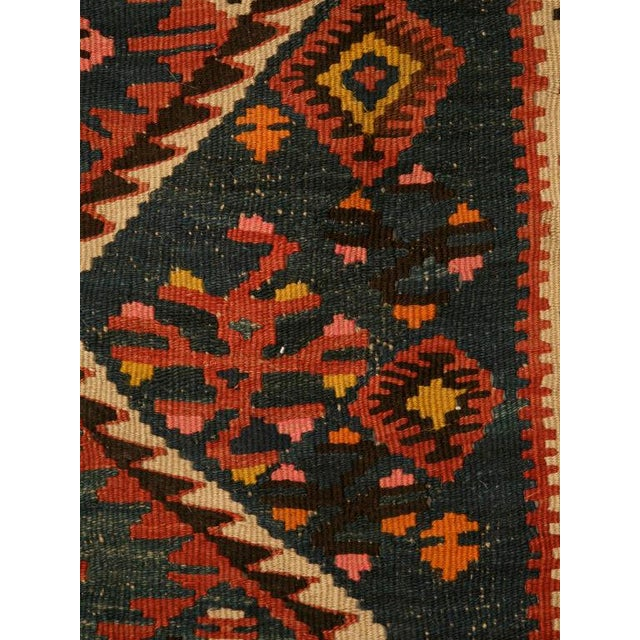 Early 20th Century Circa 1930 Persian Kilim Geometric Patterned Rug - 5′2″ × 7′11″ For Sale - Image 5 of 10