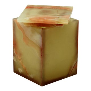 Green Onyx Canister For Sale