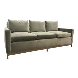 Duralee Modern Gray Mohair Binx Sofa For Sale