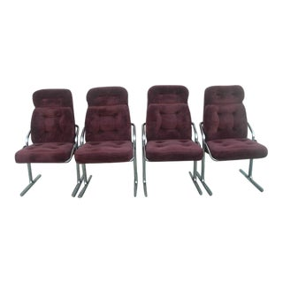 Mid-Century Modern Jerry Johnson Arcadia Chairs- Set of 4 For Sale