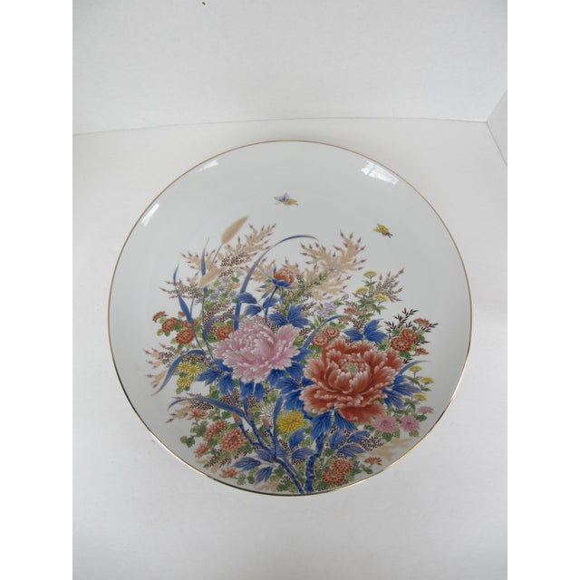 Chinoiserie Flower Plate For Sale - Image 4 of 6