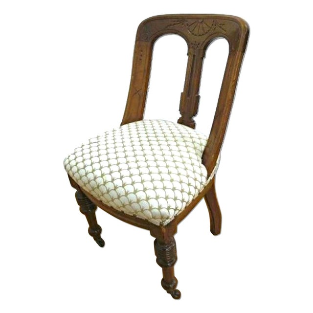 A unique shape lends this beautiful set of six Regency style dining chairs a decidedly upscale air, and you will love the...