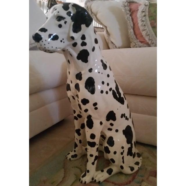 Vintage Dalmatian Dog Full Size Porcelain Statue - Image 5 of 7