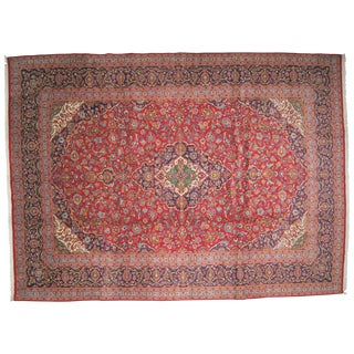 "Persian Kork Kashan Carpet - 9'9"" X 13'6"" For Sale"