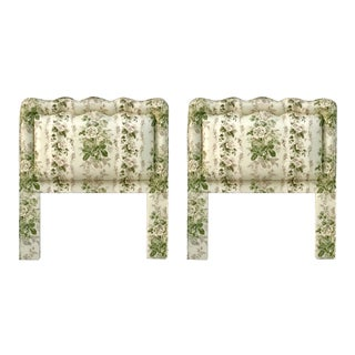 Custom Upholstered Twin Headboards - A Pair For Sale