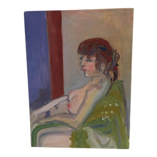Nude Oil on Canvas Painting