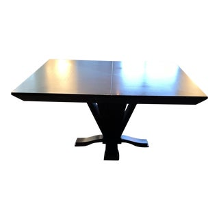Modern Interior Crafts Transitional Style Ebonized Oak Dining Table For Sale