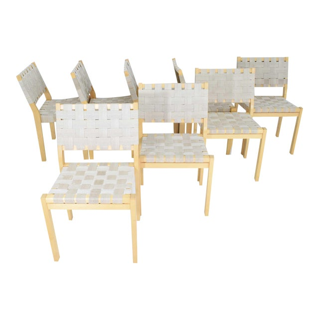 Alvar Aalto 615 Chairs by Artek - Set of 8 For Sale
