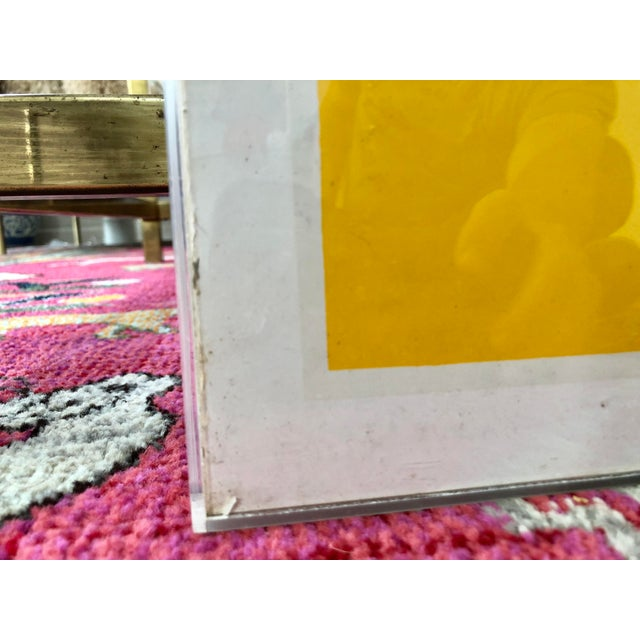 Yellow 1973 Josef Albers Framed Homage to the Square Poster For Sale - Image 8 of 10