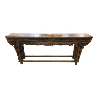 1900s Asian Temple Console Table For Sale