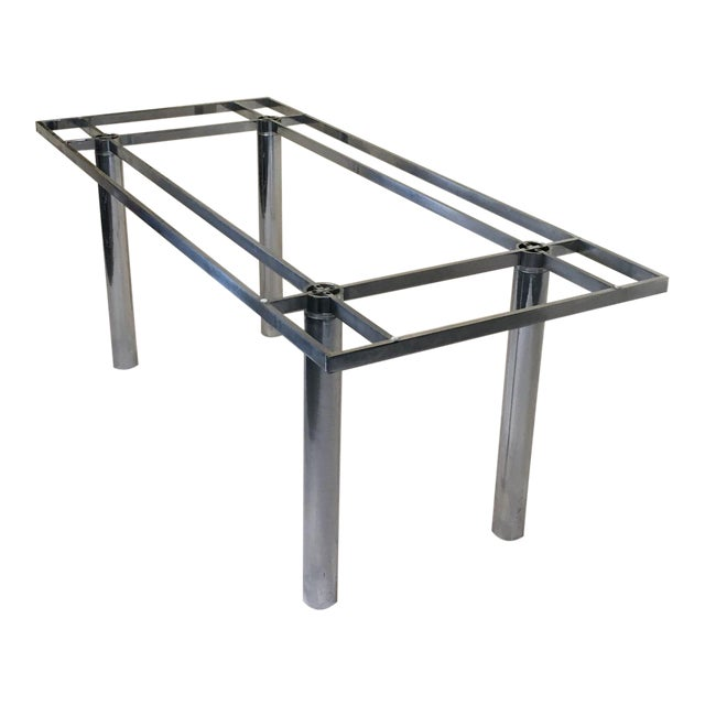 """Knoll """"Andre"""" Chrome Dining Table Base For Sale"""