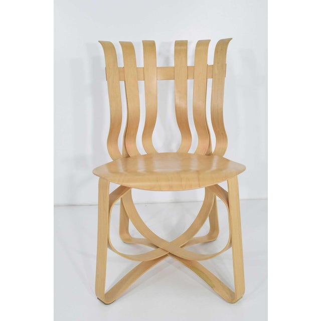 superb set of four frank gehry hat trick chairs decaso