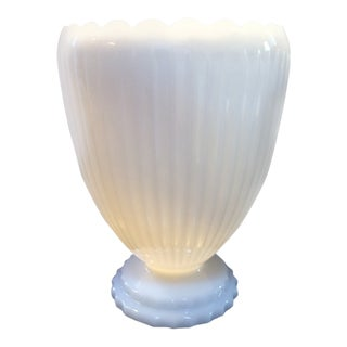 1960's Vintage Napco Milk Glass Vase For Sale