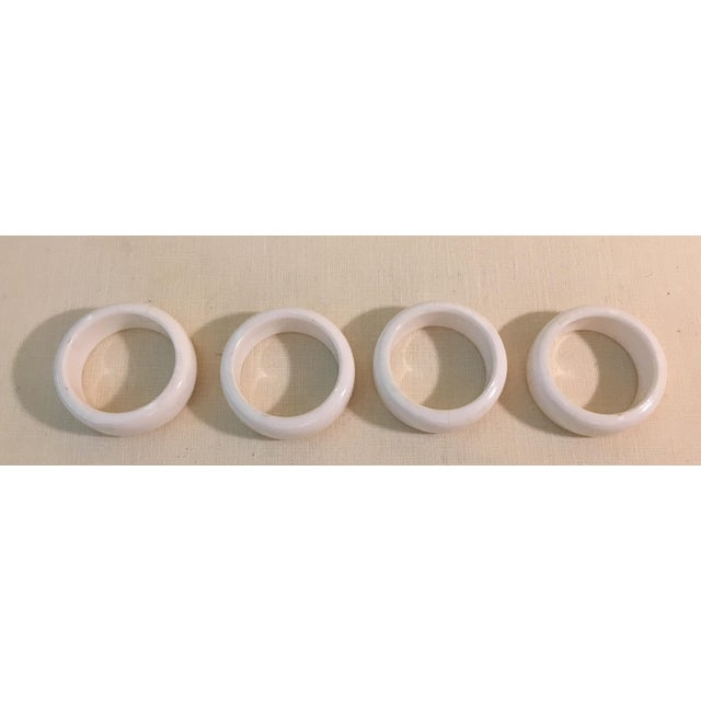 Mid-Century Modern Acrylic Napkin Rings - Set of 4 - Image 2 of 7