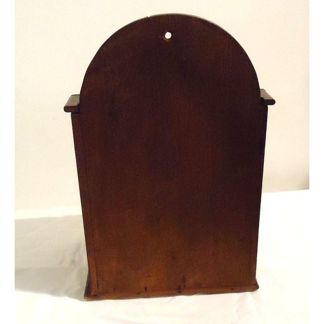 Primitive Fantastic Oversized 19th Century Walnut Wall Box For Sale - Image 3 of 8