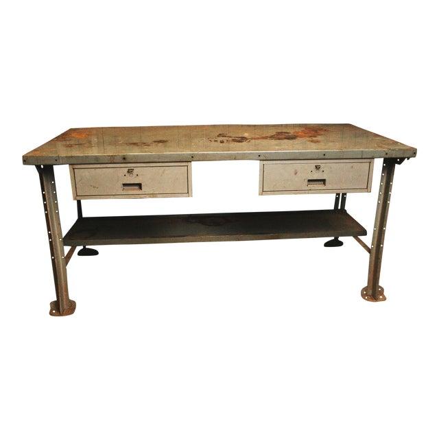 Superb Vintage Industrial Steel Work Bench By Lyon Frankydiablos Diy Chair Ideas Frankydiabloscom