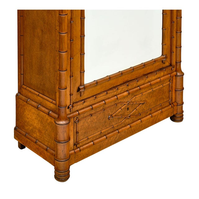 French Antique Bamboo Bonnetiere For Sale - Image 4 of 10