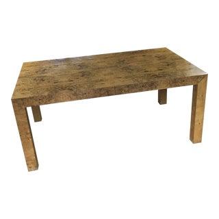 Maple Burl Milo Baughman Thayer Coggin Dining Table For Sale