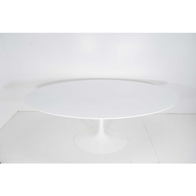Metal Eero Saarinen for Knoll Oval Tulip Table For Sale - Image 7 of 9