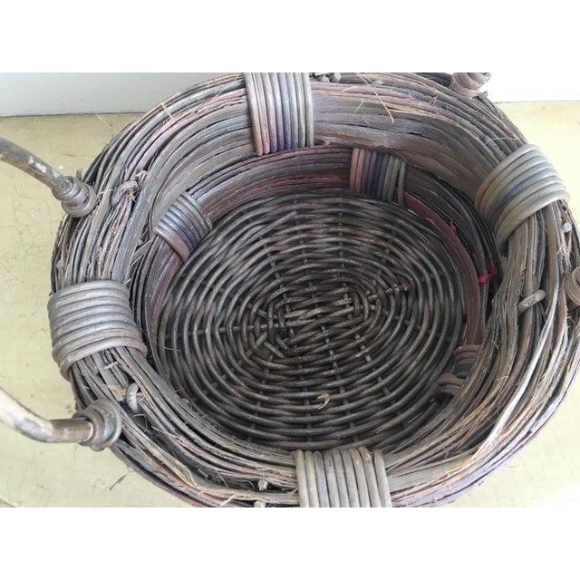 Rustic Wicker Basket, Vintage Holiday Decor - Image 5 of 7