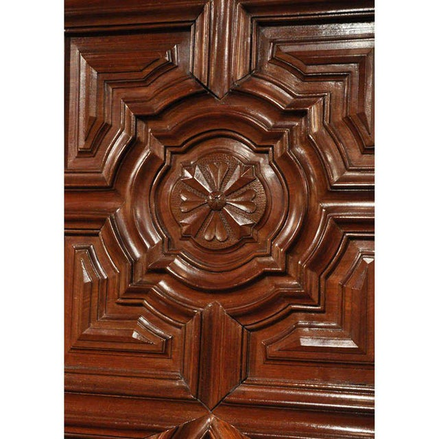 18th Century French Carved Walnut Bow-Front Perigord Armoire - Image 7 of 8