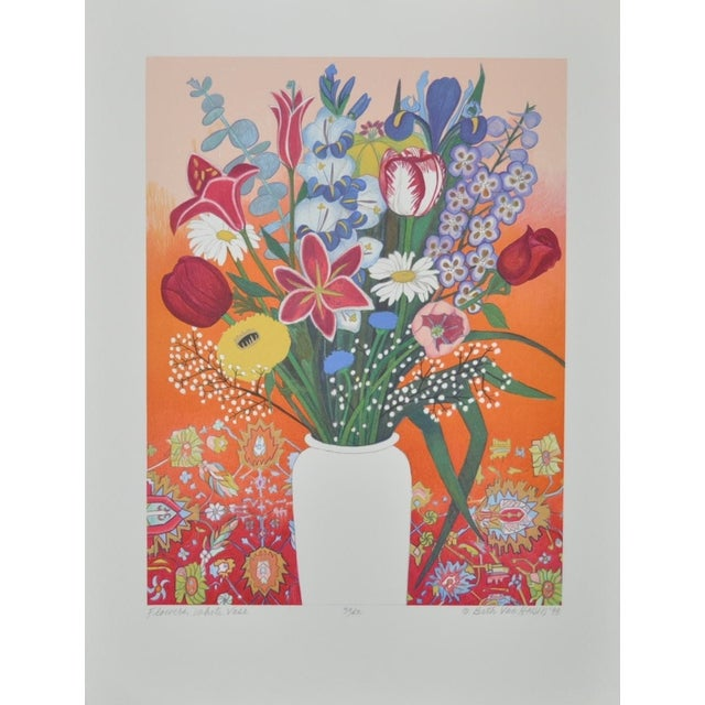 Still Life Lithograph by Beth Van Hoesen C.1993 - Image 1 of 8
