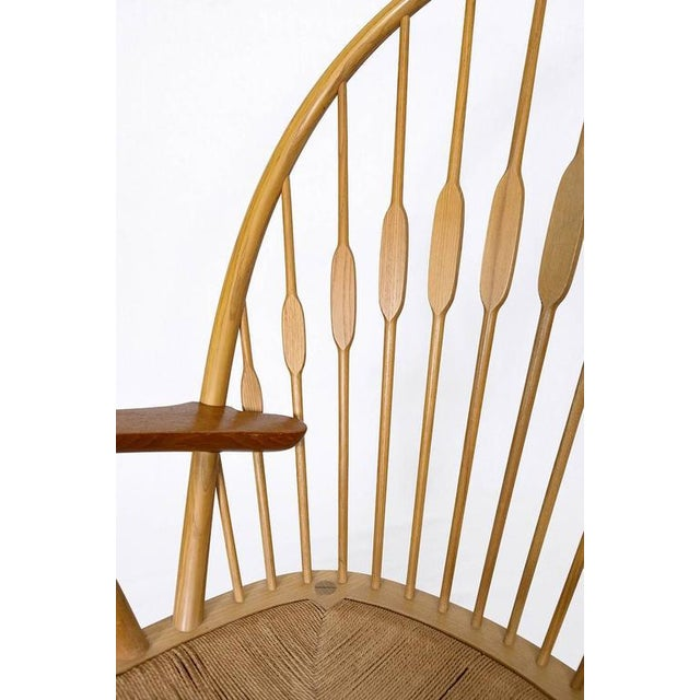 "Tan Hans Wegner ""Peacock"" Chair For Sale - Image 8 of 9"