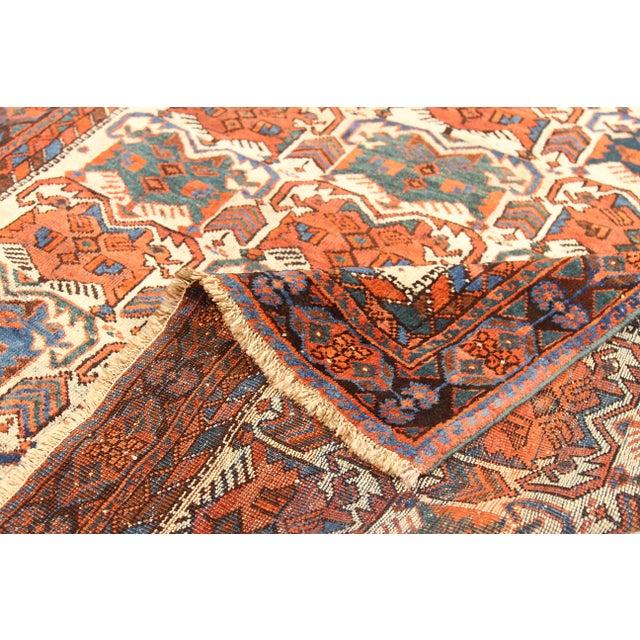Antique Persian Area Rug Sirjan Design For Sale - Image 4 of 5