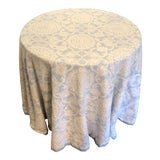 Image of Custom Brunschwig & Fils Marquesas Sea Linen Skirted Tables For Sale