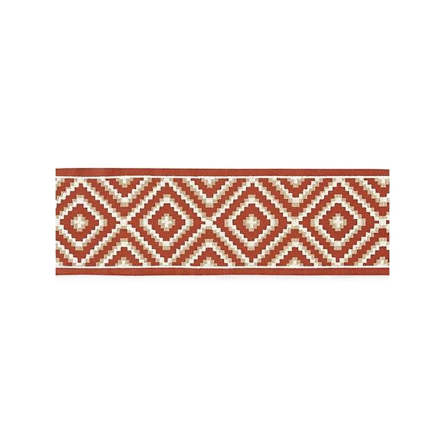Transitional Scalamandre Medina Embroidered Tape, Carnelian For Sale - Image 3 of 3