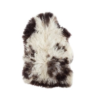 "Contemporary Handmade Wool Sheepskin Pelt -2'0""x3'0"""