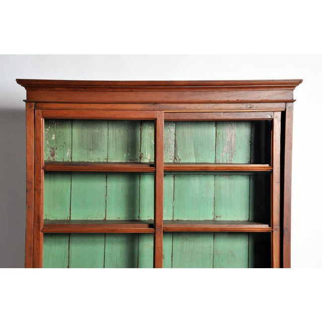 Glass 1950s British Colonial Bookcase For Sale - Image 7 of 13