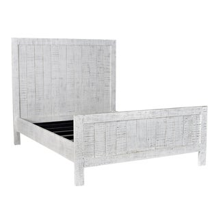 White Farmhouse Queen Bed Frame For Sale