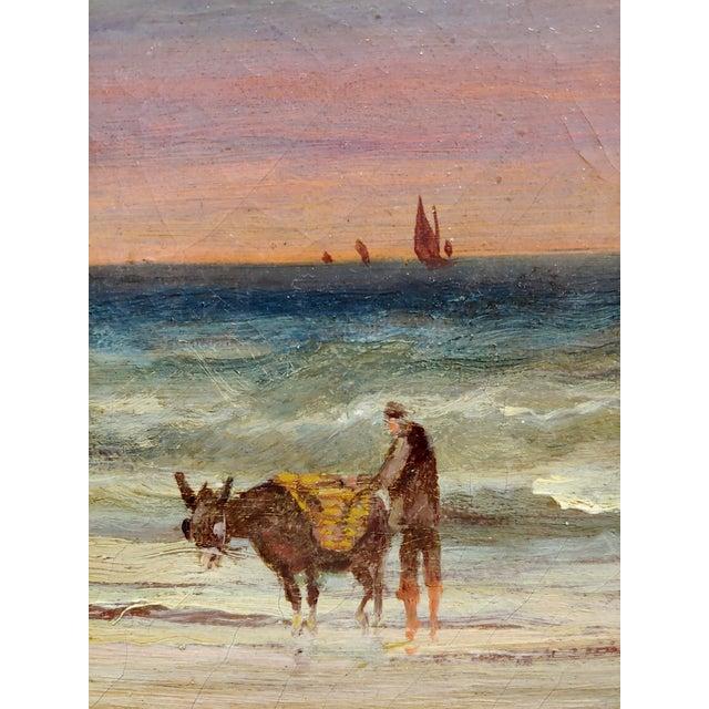 19th Century William Edward Webb - 19th Century Coastal Beach Scene -Oil Painting For Sale - Image 5 of 11