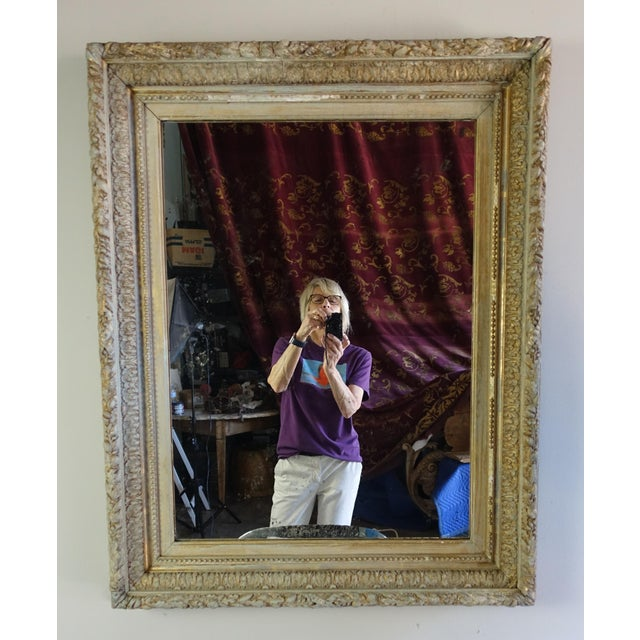 French 19th C. French Painted & Gilt Mirror For Sale - Image 3 of 7