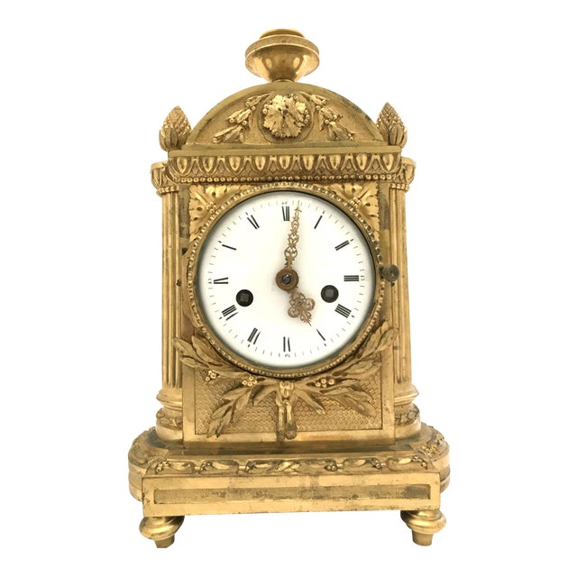 1776 Antique French Bronze Mantel Clock For Sale