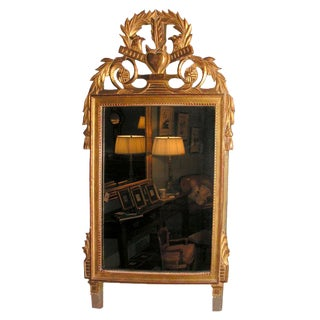 Late 19th Century Vintage French Giltwood Louis XVI Style Mirror For Sale