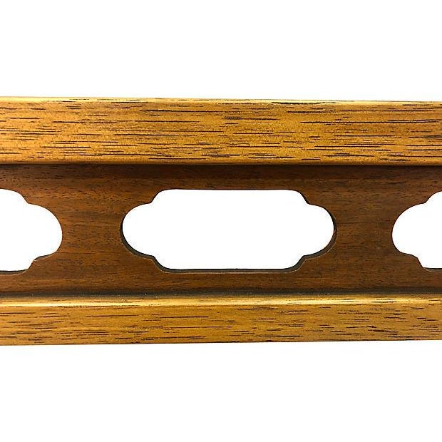 Drexel Drexel Compass Pecan Wood Wall Mirror For Sale - Image 4 of 8