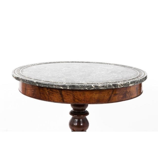 Antique French Second Empire Round Pedestal Table For Sale - Image 4 of 10